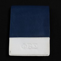 Leather Phi Beta Sigma Wallet w/ White Accent