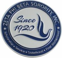 New Zeta Phi Beta Die Cut Metal Emblem