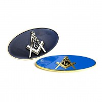 Masonic Oval Car Emblems