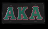 Alpha Kappa Alpha - Outlined Mirror Plates