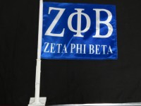 Zeta Phi Beta Car Flags