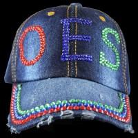 OES Rhinestone Denim Hat