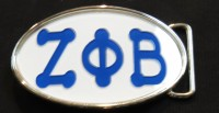 Belt Buckle w/ Bubble Letters - Zeta Phi Beta