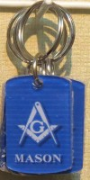 Square Mason Key Chain