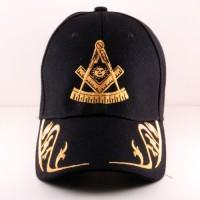 Masonic Hat w/ Gold Design on The Brim