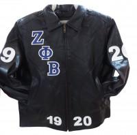 Zeta Phi Beta 3 Bomber/Fitted Leather Jacket
