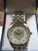 Silver & Gold Tone Masonic Watch