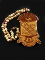 Phi Beta Sigma - X-Large Shield Tiki w/ Beads