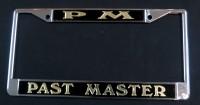 Black & Gold Past Master License Plate Frame