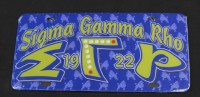Sigma Gamma Rho - Printed Founder License Plates