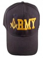 Black Army Hat w/ Masonic Symbol