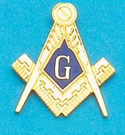 Gold Masonic Lapel Pin