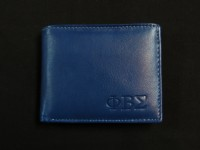 Leather Phi Beta Sigma Wallet